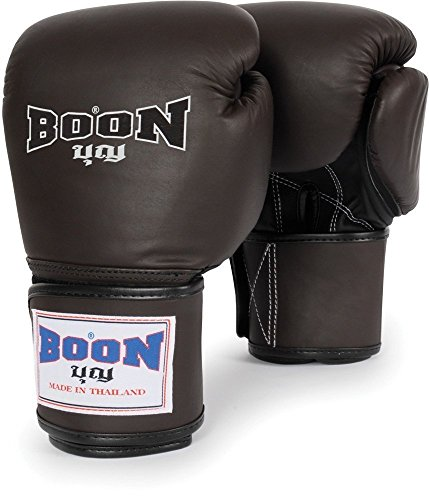 BOON THAI STYLE TRAINING GLOVES - BGV - BROWN (12oz)