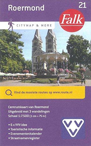 Roermond: centrumkaart van Roermond uitgebreid met 3 wandelingen (Falk citymap & more)