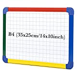 SwanSea Small Magnetic Whiteboard Handheld Weekly Planner Grid White Boards for Home Office,35 x25cm