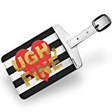 Luggage Tag Ugh, Fine Valentine's Day Gold and Stripes Heart - NEONBLOND