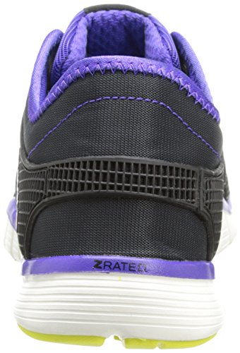Reebok Zquick Tr Lux El entrenamiento cruzado de zapatos Black/Ultima Purple/Chalk/High Vis Green