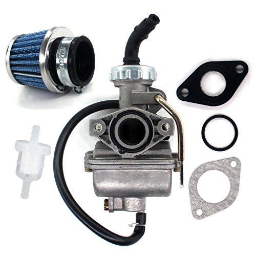 AISEN PZ20 20MM Carburetor for 50cc 70cc 90cc 110cc 125cc 135cc ATV Quad Go Kart Go Carts UTV Sunl NST BMS JCL TAOTAO Coolster Baja NST Kazuma Carb Intake Gasket O Ring O-Ring Air Fuel Filter