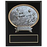 8''x10'' Black Marble Finish Soccer Plaque with Resin Action Mount FREE CUSTOM ENGRAVING