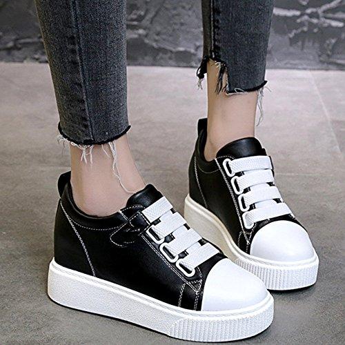 bianche Estate Nero Fondo 5 spesso PU donna Comode bianco EU37 CN37 UK4 dimensioni Colore nero Scarpe NAN scarpe 5 da Nero 8wOIq0IxS