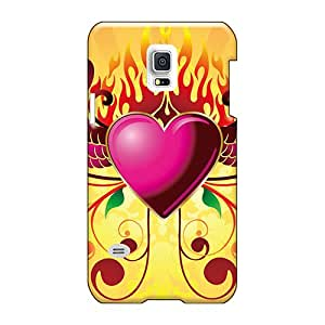 Protector Hard Phone Covers For Samsung Galaxy S5 Mini (YgY224UMwO) Custom HD Pink Heart Pictures