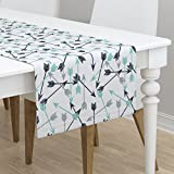Table Runner - Arrows Southwest Arrow Navy Arrows Navy and Grey Mint and Navy by Andrea Lauren - Cotton Sateen Table Runner 16 x 72