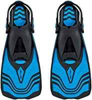 Seac Vela OH, Snorkeling and Pool Swimming Short Fins with Adjustable Strap