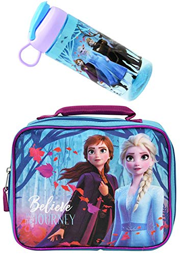 Frozen Insulated School Lunch Bag- Elsa and Anna for Kids (Lunch Frozen Box)