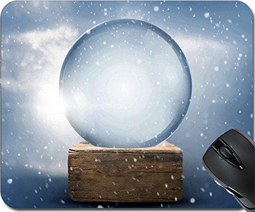 MSD Natural Rubber Mouse Pad Mouse Pads/Mat design 24698432 A vintage empty christmas snow (Natural Snowglobe)