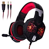 FHP-G1425R Professional Gaming Haptic Audio Bass Stereo Surround Sound Headset w/ RGB lighting, Boom Mic, USB, 3,5mm Inputs for Desktop Computers Review