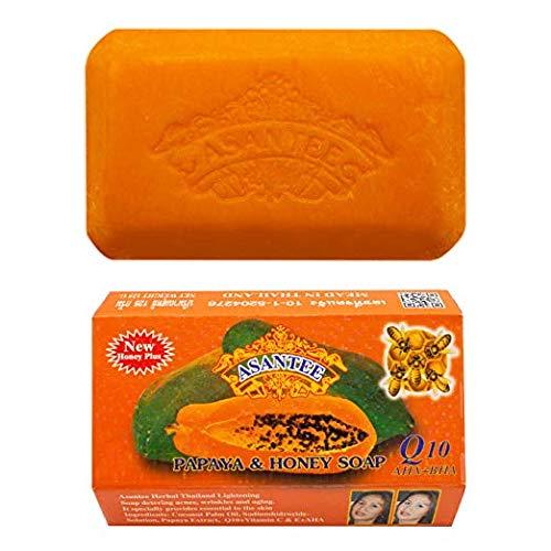 Papaya Soap and Honey Skin Whitening Facial and Body Soap (4.5Oz)