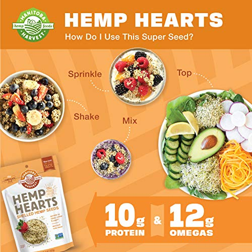 Manitoba Harvest Hemp Hearts Shelled Hemp Seeds, 16oz; 10g Plant-Based Protein & 12g Omegas per Serving, Whole 30 Approved, Vegan, Keto, Paleo, Non-GMO, Gluten Free 4