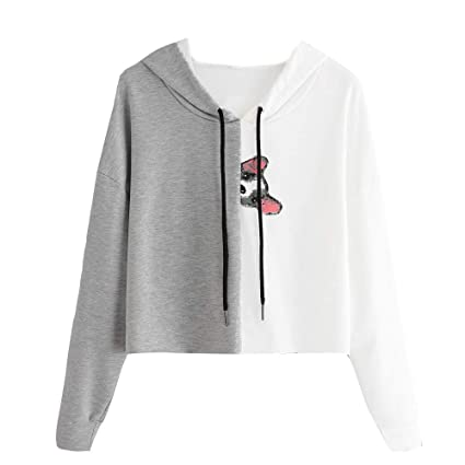 Image Unavailable. Image not available for. Color  Women s Sweatshirt  Hooded Jacket Crewneck ... 3beb590d7