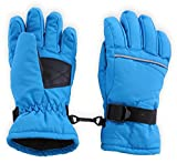Kids Winter Snow & Ski Gloves - Youth Gloves Designed for Skiing, Snowboarding, Shoveling - Waterproof, Windproof Thermal Shell & Synthetic Leather Palm - Fits Toddlers, Junior Boys and Girls
