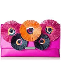 Tab Clutch (Nappa/Embroidered Flowers)