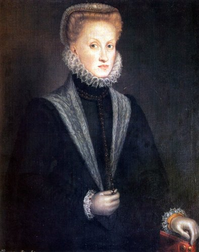 Sofonisba Anguissola Anne Of Austria Queen Of Spain - 24'' x 30'' 100% Hand Painted Oil Painting Reproduction by Art Oyster