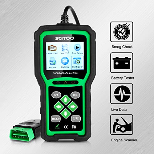 OBD2 Scanner Engine Check Light Fault Code Reader Automotive CAN Diagnostic Scan Tool AH5100 by SCITOO (Image #4)