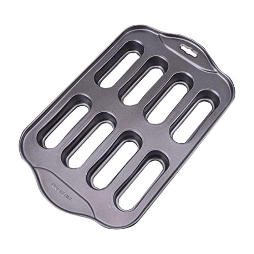 Muffin Pan Bakeware Madeleine Pan Resistant Nonstick Carbon Steel Baking Pan 8-Cup Molded Cookie Pan