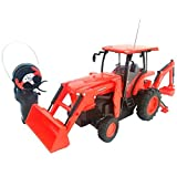 "Cool Remote Control Kubota L6060 Loader and Backhoe Tractor- 6"" H x 4"" W x 14"" L"