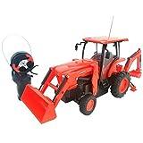 "Cool Remote Control Kubota L6060 Loader and Backhoe Tractor- 6"" H x 4"" W x 14"" L"