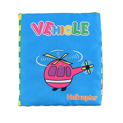 Wenini Baby Puzzle Cloth Book, Fox Apple Helicopter Letters Baby Book Toy Cloth Development BB Sound Books, Torn Not Bad Baby Book (Helicopter) from Wenini