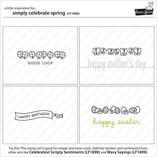 Lawn Fawn - Simply Celebrate Spring Clear Stamp and Die Sets with Wavy Saying Clear Stamps - 3 Items by Lawn Fawn (Image #4)