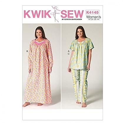 Amazon.com: Kwik Sew Ladies Plus Size Easy Sewing Pattern 4145 ...