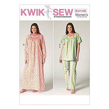 Kwik Sew Damen Plus Größe Schnittmuster 4145 Schlafanzug & Nachthemd ...