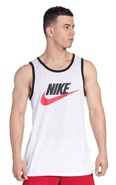 e5132c6d9928d Nike Mens Ace Logo Tank Top White/Black/University Red 779234-102 Size  X-Large