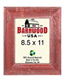 BarnwoodUSA | Farmhouse Picture Frame With 3 Inch Wide Frame | 100% Reclaimed Wood (8.5×11, Rustic Red) Review