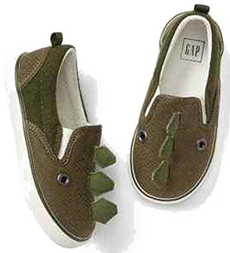 baby-gap-toddler-boys-green-dino-dinosaur-slip-on-sneakers-shoes-size-9