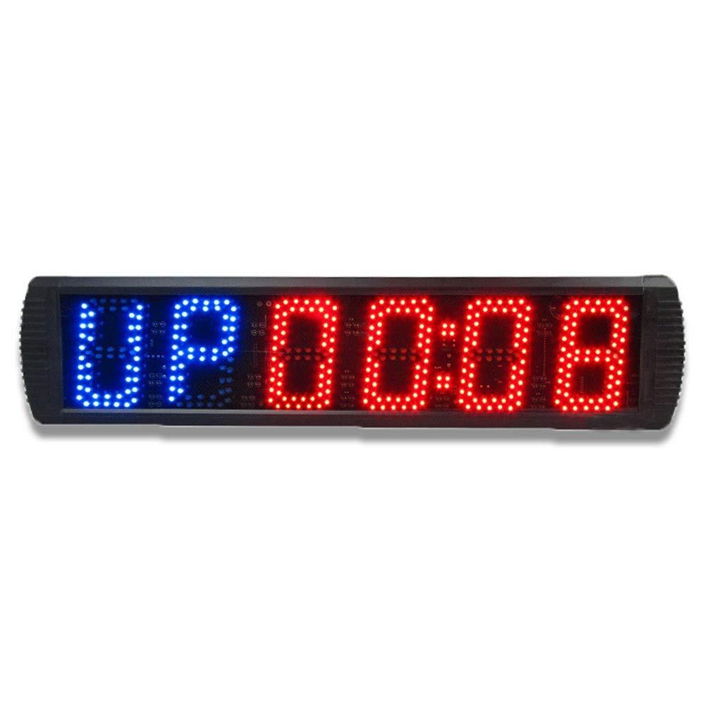 LEDスポーツタイマー 大型LEDデジタルインターバルタイマーカウントトレーニングタイマージムストップウォッチLed壁時計リモコン付き デジタルスポーツタイマー (色 : ブラック, サイズ : 70X16X4CM) ブラック 70X16X4CM