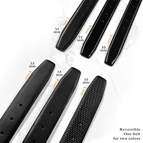"""35mm wide Smooth Reversible Genuine Leather Dress Replacement Belt Strap 1-3//8/"""""""