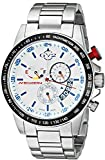 GV2 by Gevril Scuderia Mens Chronograph Swiss Quartz Alarm GMT Stainless Steel Sports Racing Watch, (Model: 9908)