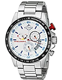 GV2 by Gevril Men's 9908 Scuderia Analog Display Quartz Silver Watch