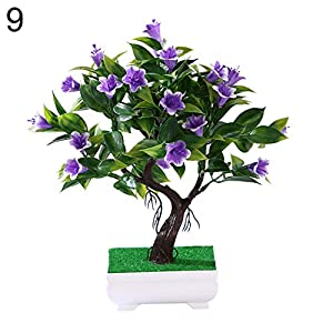 zzJiaCzs Artificial Flower Plant,1Pc Faux Lotus Lily Rose Flower Miniascape for Wedding Party Home Bonsai Decor - 9# 6