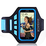 Galaxy S7,S6,S6 Edge,S5 Sports Armband - Great for Running, Cycling, Workouts or any Fitness Activity -Sweat Proof - Lightweight & Comfortable - Build in Key +Credit Cards & Money Holder By DanForce