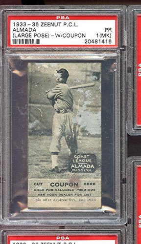 1933 Zeenut Pcl Pcl With Coupon Almada 1 Mk Graded Baseball