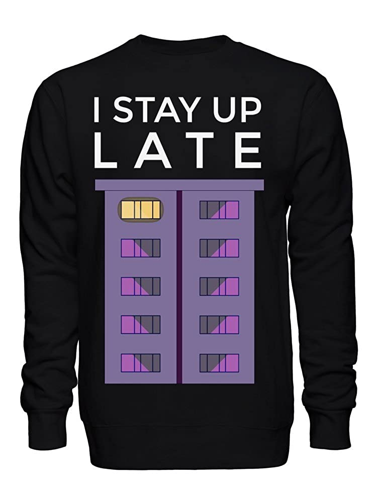 graphke I Stay Up Late Unisex Crew Neck Sweatshirt