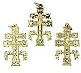 Lot of 3 Gold Tone Crucifix Cruz De Caravaca Cross