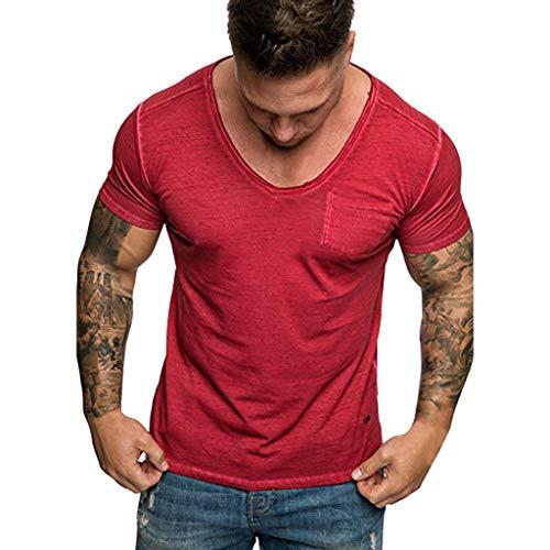 T-Shirt Men,Blouse Man,Shirt Men,Long Sleeve t-Shirt Men,Pullover Hoodie Men,Sweatshirt Men,Man t Shirts,Tops Men,Man Hoodie,Man Shirt, Man Hoodie,Man Shirt (M,1- Red) -