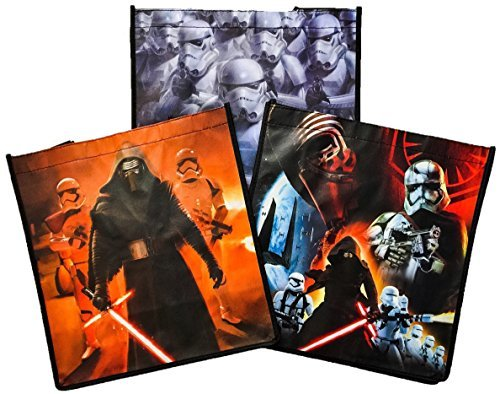 [Disney Star Wars The Force Awakens Episode VII Bundle: 6 Recyclable Reusable Tote Shopping Storage Container Bags with 1 Poly tab file Folder- Resistance First Order - 7] (Star Wars The Force Unleashed 2 Darth Vader Costume Cheat Xbox)