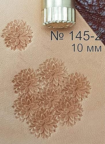 Flower Leather Working Tools Carving Punches Stamp Craft Saddle Brass #145-2