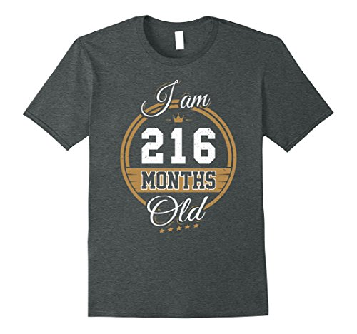 Halloween Costume Ideas For 18 Year Old Male (Mens Funny Vintage 18th Birthday T-Shirt I'm 216 Months Old Gift 2XL Dark Heather)