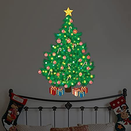 wallflexi christmas decorations wall stickers magical traditional christmas tree wall murals decals