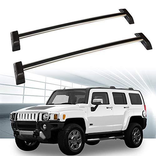 ROADFAR Roof Rack Aluminum Top Rail Carries Luggage Carrier Fit for 2006 2007 2008 2009 2010 Hummer H3 Sport Utility Baggage Rail Crossbars with - Roof Hummer