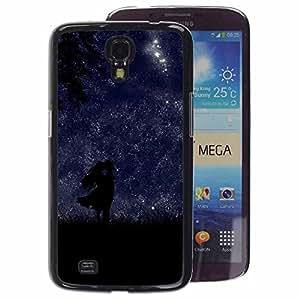 A-type Arte & diseño plástico duro Fundas Cover Cubre Hard Case Cover para Samsung Galaxy Mega 6.3 (Night Stars Love Lovers Sky Romantic)