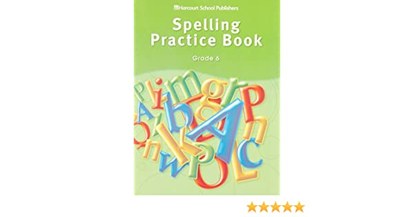 Storytown spelling practice book student edition grade 6 harcourt storytown spelling practice book student edition grade 6 harcourt school publishers 9780153499012 amazon books fandeluxe Images