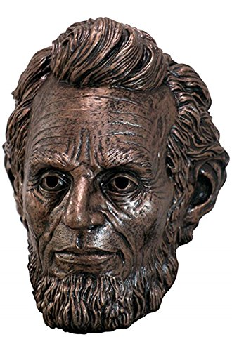 President Lincoln Bronze Color Full Halloween Latex Mask