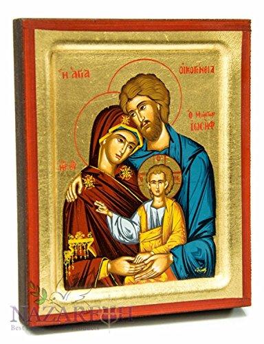 Jerusalem Holy Family Of Jesus Byzantine Wood Icon Christian 5.1'' by Holy Land Gifts
